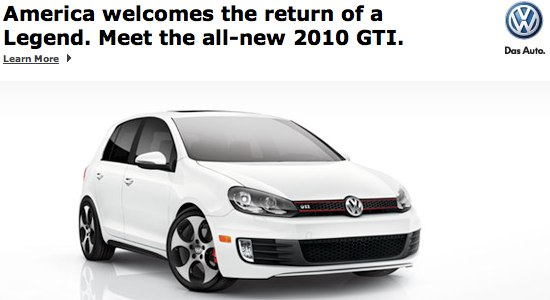 2010 VW GTI advertisement