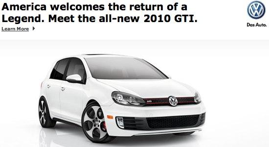 2010 VW GTI advertisement