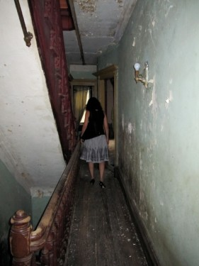 Run down hallway in old Harlem townhouse wreck
