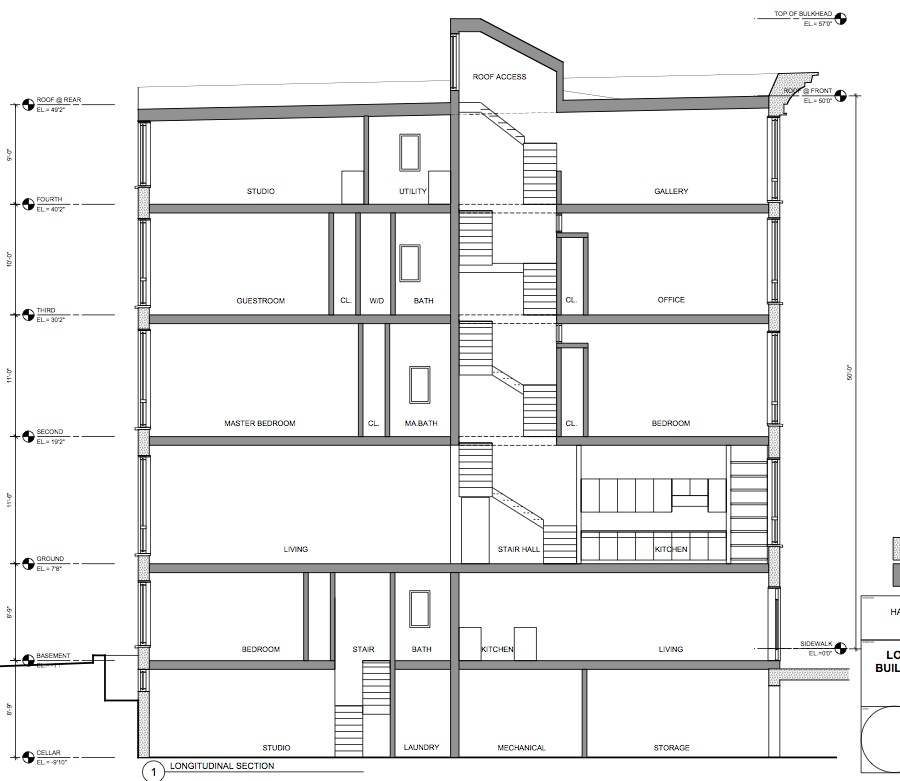 Stacked townhouse floor plans gurus floor for Townhome plans