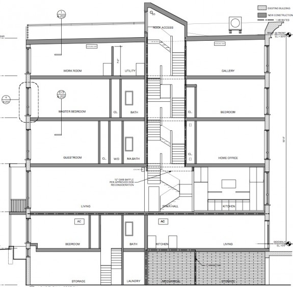 Layout of 168 West 123 - brownstone in Harlem