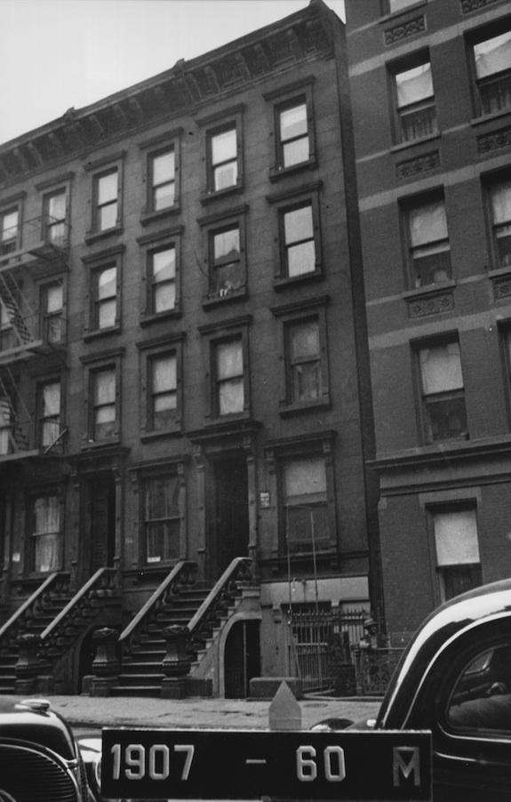 168 West 123rd Street Harlem Brownstone in 1940