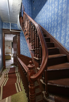 Stairs in Julia Angwin's house before renovation