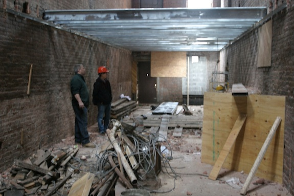 Basement level looking towards the rear of the building