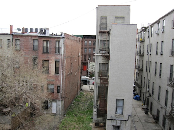 View from master bedroom in Harlem townhouse