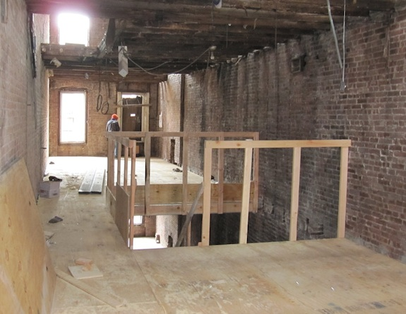 looking towards the master bedroom in townhouse under construction
