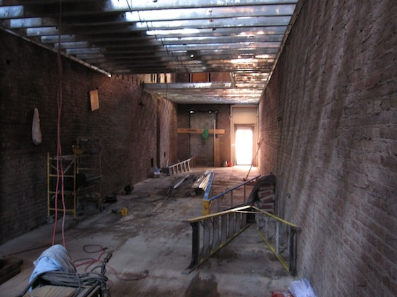 Parlor floor looking towards the front of the building