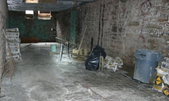 Concrete floor in townhouse cellar