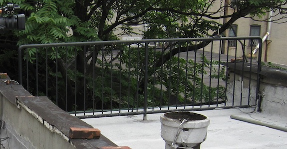 Roof Deck Railing on Townhouse