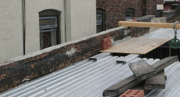 Harlem townhouse parapet wall