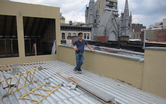 Roof Deck Almost Looking Done