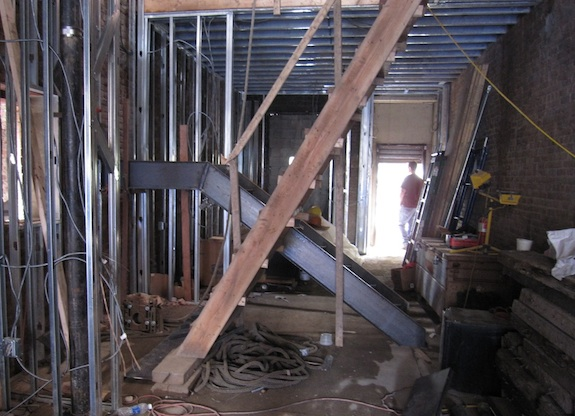 stairs in parlor floor