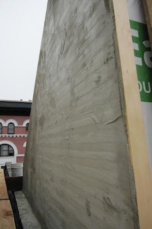 stucco undercoat on bulkhead