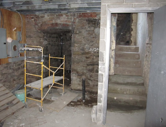 Stairs to cellar in Harlem Brownstone
