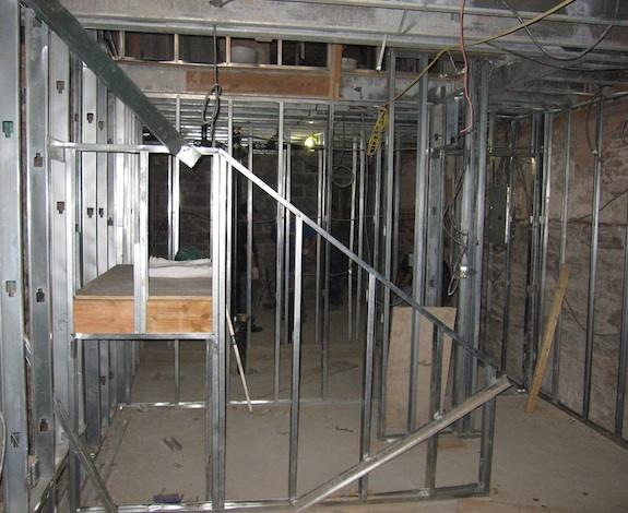 Progress on stairs in rental unit