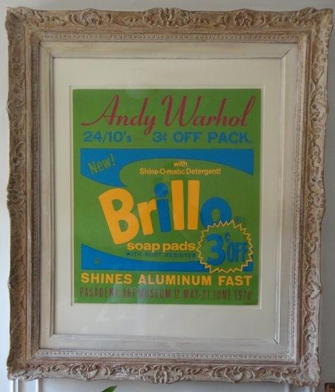 Framed Warhol Poster