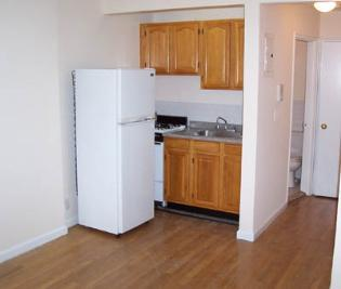 Fridge blocking stove in small kitchen
