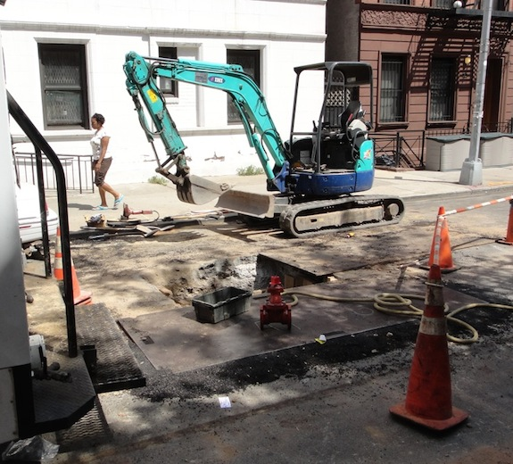 NYC street torn up for water main connection