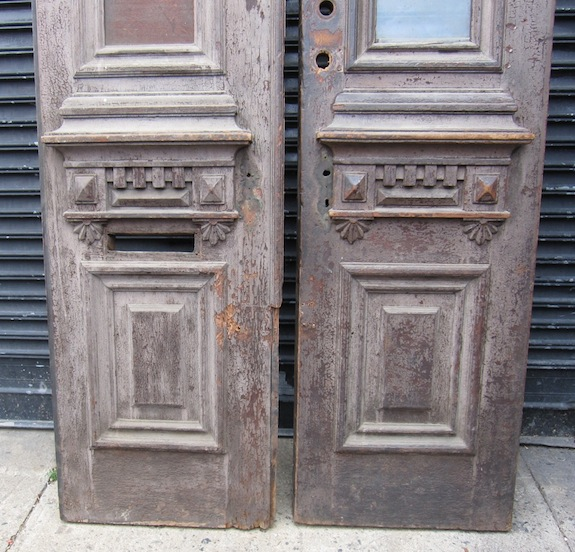 The bottom (exterior) of the old door we bought for our brownstone ... & New Doors vs. Old (Salvaged) Doors | Beating Upwind pezcame.com