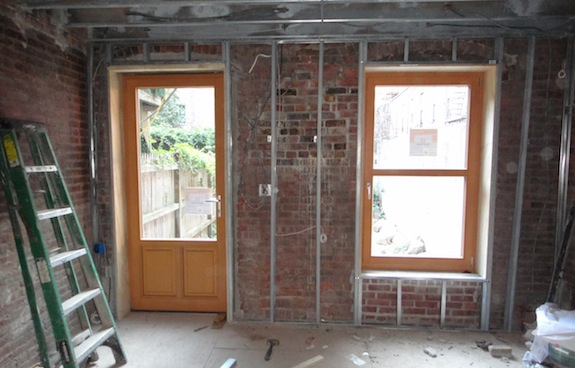 Window and door installed in Harlem townhouse rehab