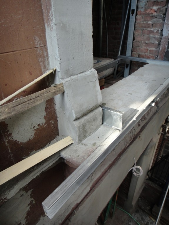 Restoring parlor window sill