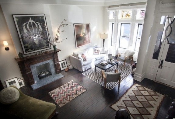 living room of 105 West 122 in Harlem