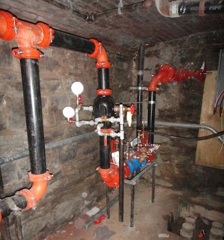 sprinkler valves in cellar