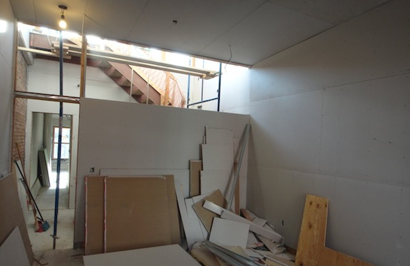 gallery with drywall