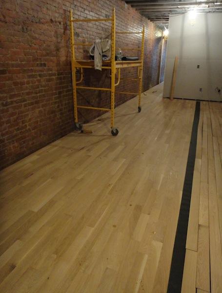 wood floors being laid