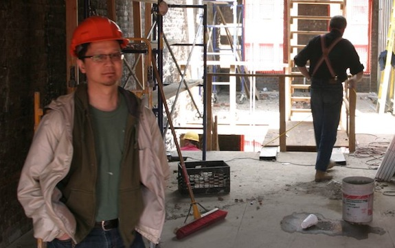 Dan Wong in a construction site