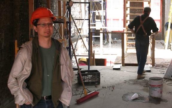 Dan Wong in a construction site