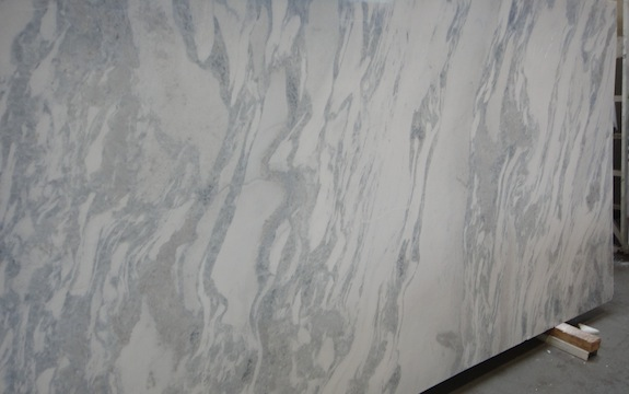 bluish marble with wavy veins