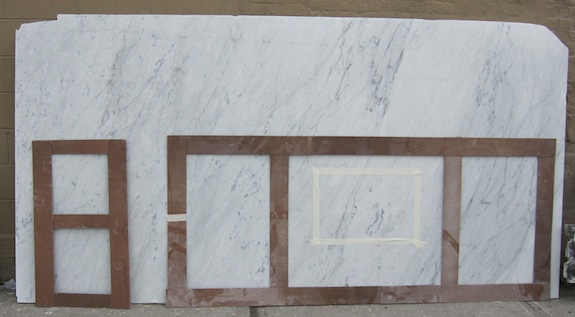 carrara slab for kitchen island