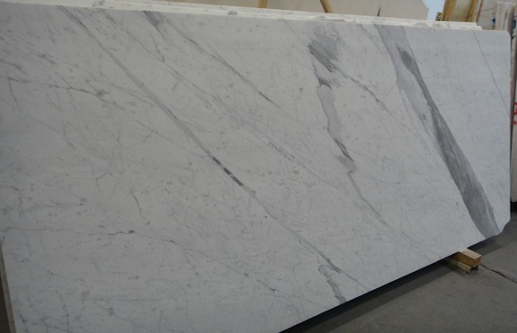 marble slab with a big, dramatic gray vein
