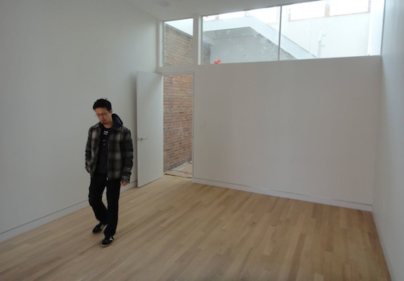 white oak floor in gallery