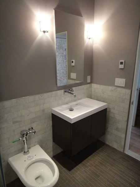 Sink & Toilet in master bathroom