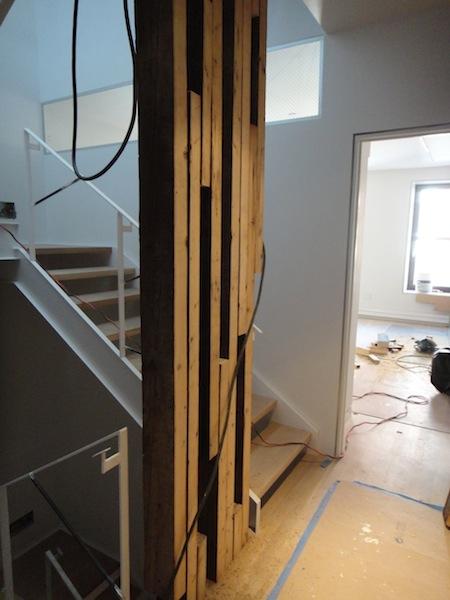 wood stairwell screen