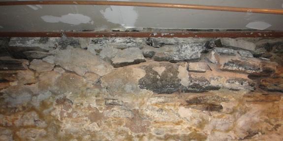 missing mortar in foundation