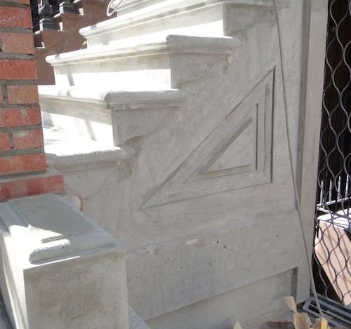 Finished stoop detailing ready for brownstone finish