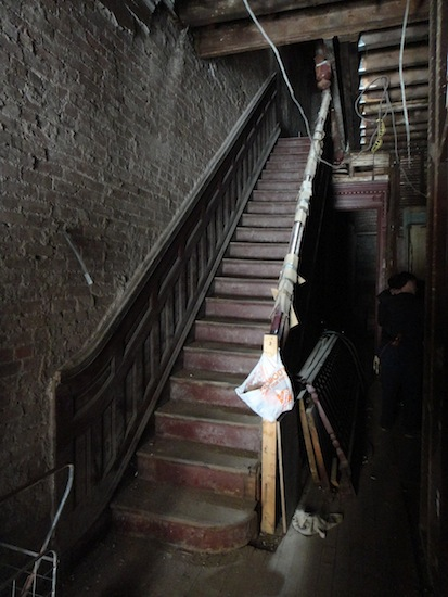 staircase in harlem townhouse shell