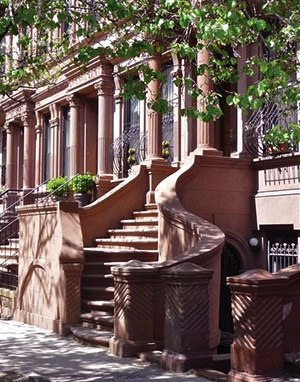Harlem brownstone stoop